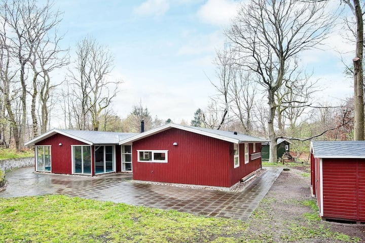 Scenic Holiday Home in Glesborg with Whirlpool
