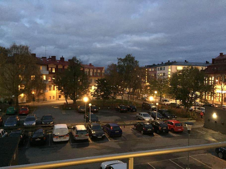 Vy från balkongen