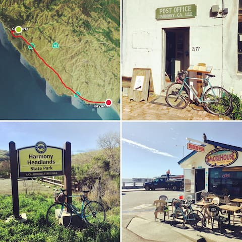 The 16 mile ride from the Bridge Street Inn to Cayucos can turn into an all day adventure with ample hiking, beach naps, art galleries, coffee shops and restaurants. Plus it only costs $1.50 to catch a ride for yourself and bike on the RTA bus back to Cambria.