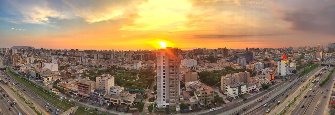 Great view, modern, betwn Miraflores / San Isidro