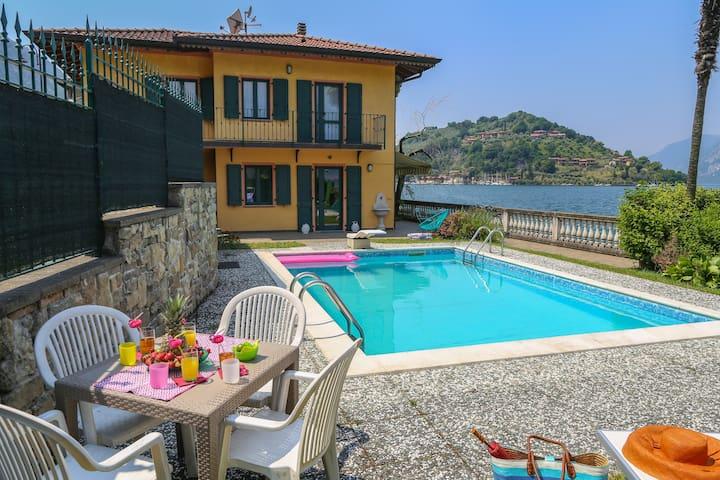 Romantico appartamento con piscina _Lago d'Iseo