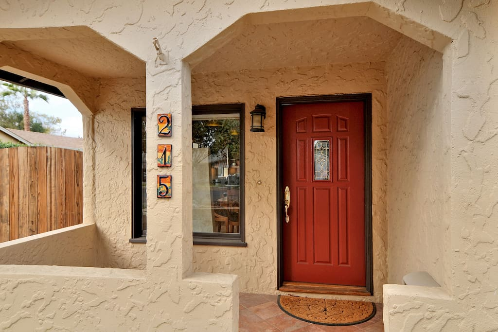 The front door. 215 N 1st St, Campbell