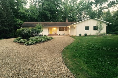 Mid Century Modern Family Home in Harbor Country - Three Oaks