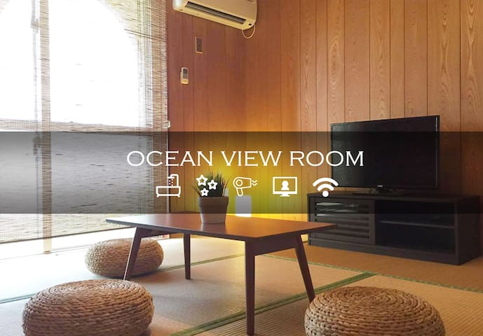 Onnason Resort Beach Diving/MAX3 ppl/FreeWiFI/8X6 - Onna-son - Apartemen