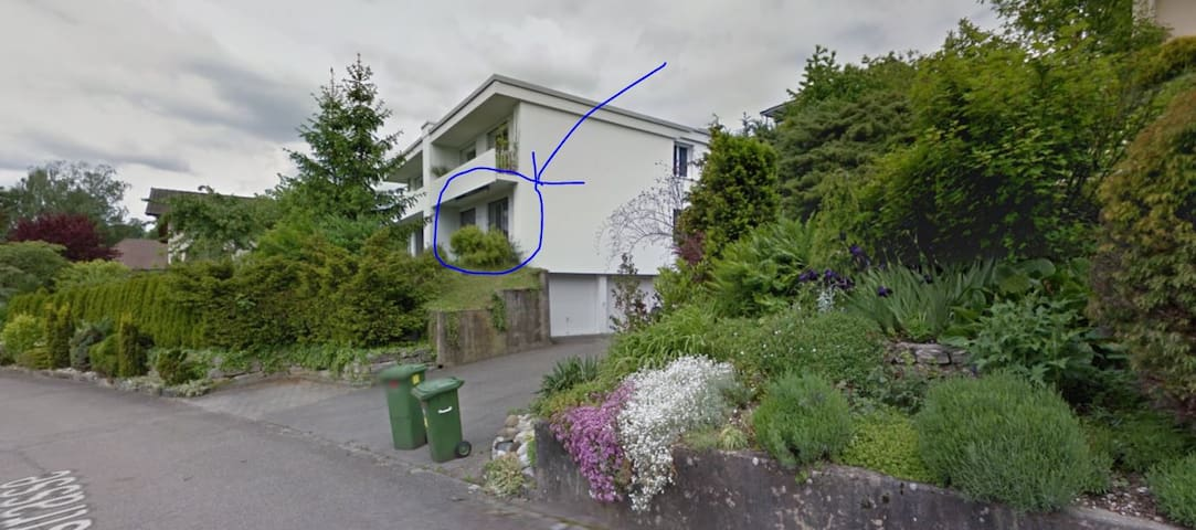 Hübsche 1.5Wohnung mit Garten und Katze. Japanisch - Rombach - Apartamento