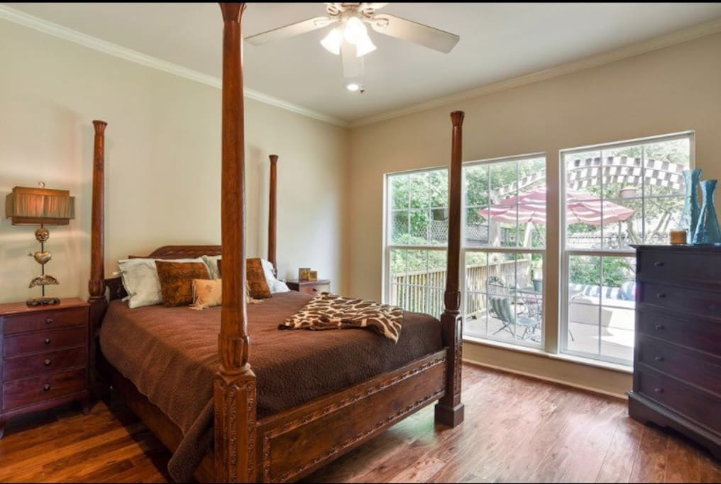 master bedroom, main floor with private bath