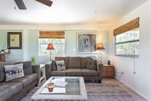 Feel at home in the comfortable, airy living room...