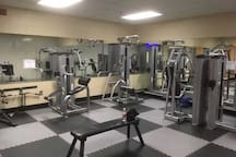 If our home gym isn't enough, you have many choices at the Coombs center for a minimal rate!