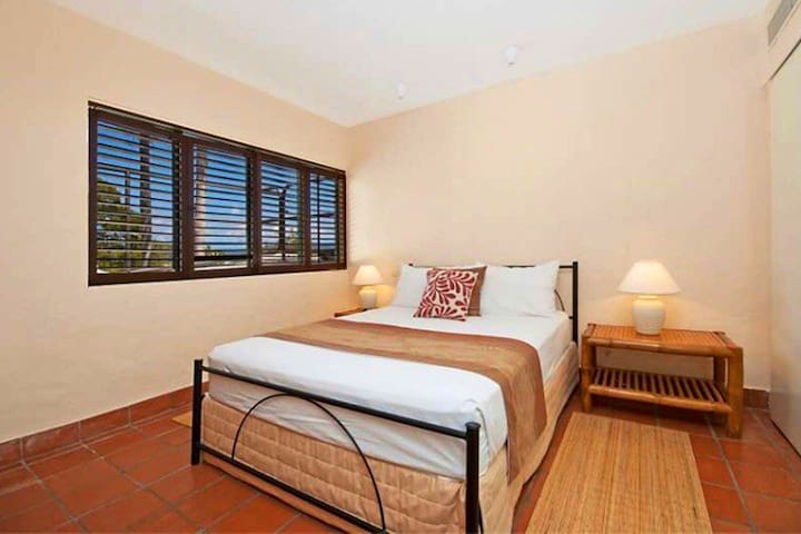 Spacious and bright bedroom with built in robes and a queen size bed