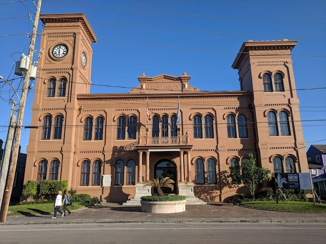 Algiers point boasts many beautiful, historical buildings.