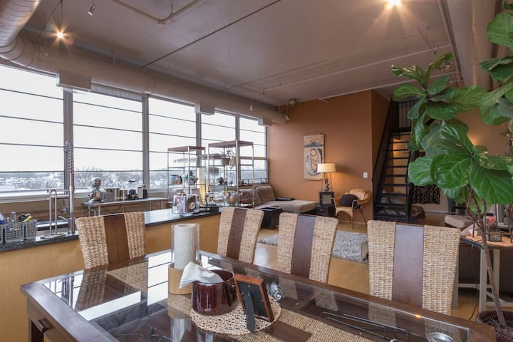Spacious 2-level Penthouse with Rooftop Deck - Washington - Loft