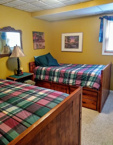 Bedroom #3 with two captains beds (sleeps 2).