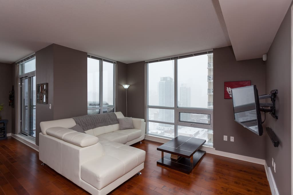 Clean, quiet and uncluttered space is key to happiness in our condo.