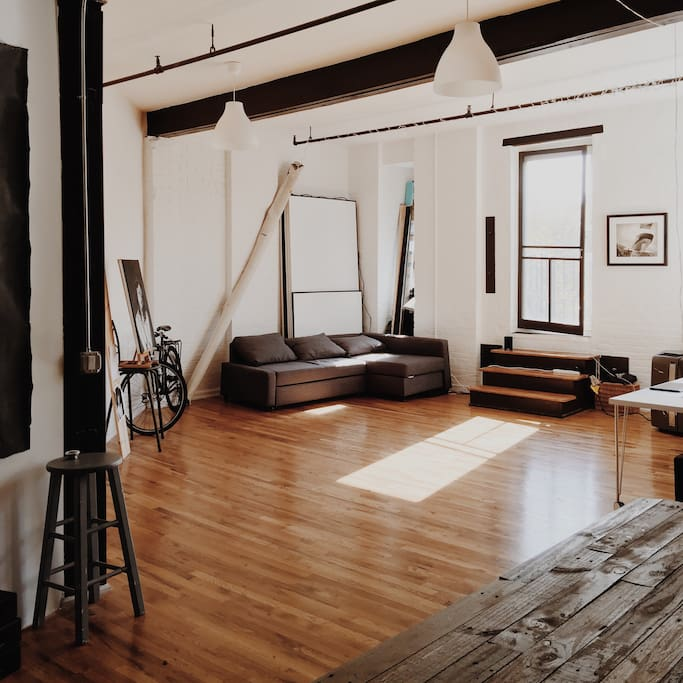 common space - Loft living with tall ceilings