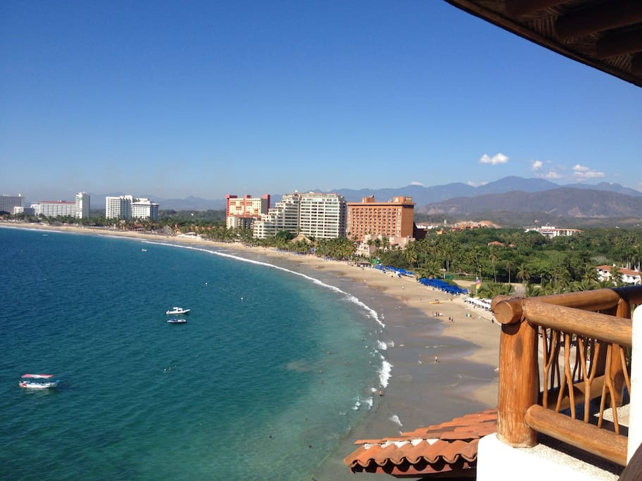 The amazing and spectacular balcony view of the beach area and visibility through the water viewing fish. Literally the best penthouse views in all of Ixtapa!