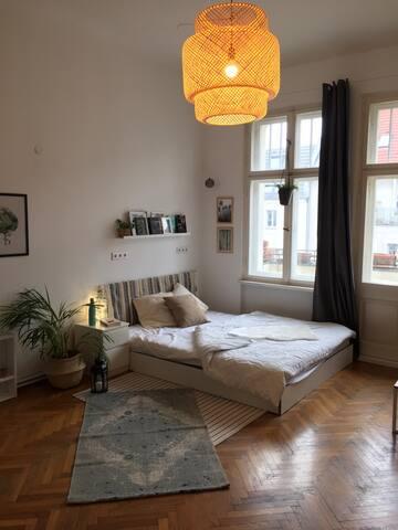 beautiful room with balcony