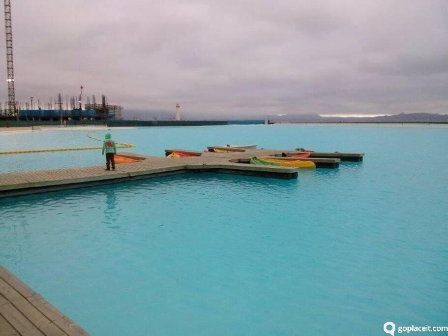 laguna navegable excelente para deportes acuaticos