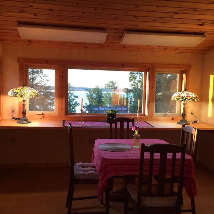 Dining Room with a view of the Sound