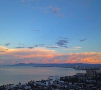 Great spacious studio with view of Banderas Bay - Puerto Vallarta
