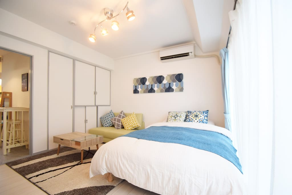 Cute blue room
