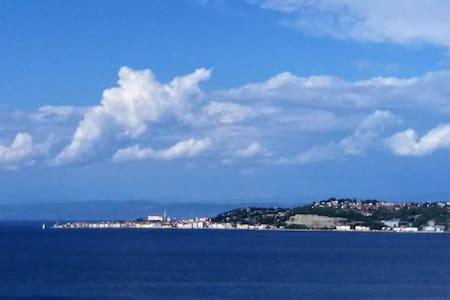 Overlooking Piran Bay Apt 3/6 - Istarskaźupanija - Casa