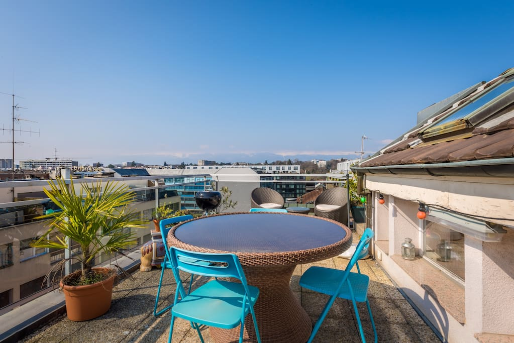 Roof top terrace, with barbecue