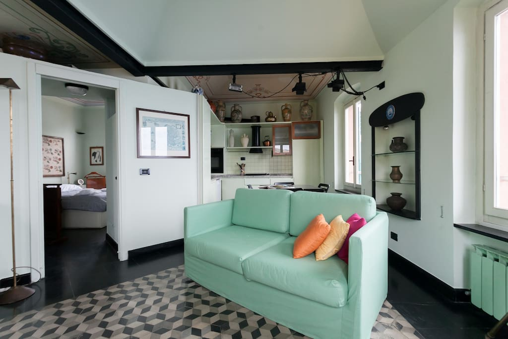 The Living room - The colorful sofa
