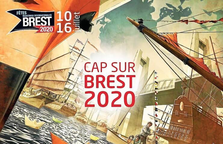 Voilier au Moulin Blanc pour les fêtes Brest 2020