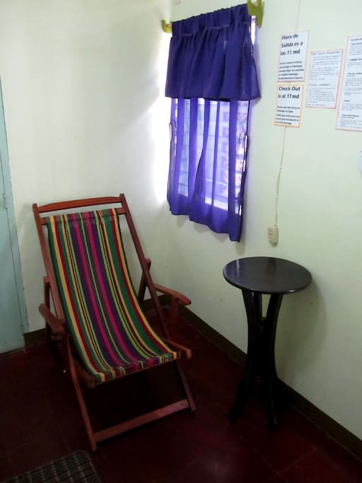 There is a traditional chair from Masaya where you can relax.
