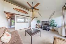 "Custom living room with 46"" TV/Sony entertaiment center"