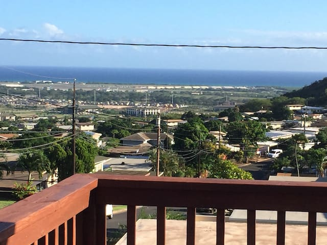 House on the Hill with Ocean View from Front Deck - Kapolei - Ev