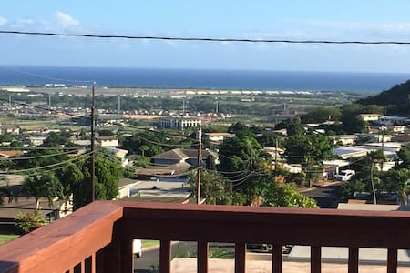 House on the Hill with Ocean View from Front Deck - Kapolei