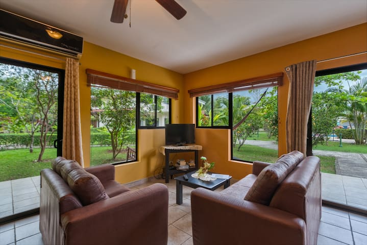 Lounge in the hammock or enjoy free cable TV and WiFi