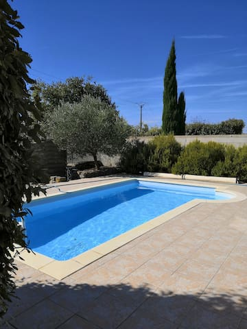 In quiet villa near Medieval City of Carcassonne