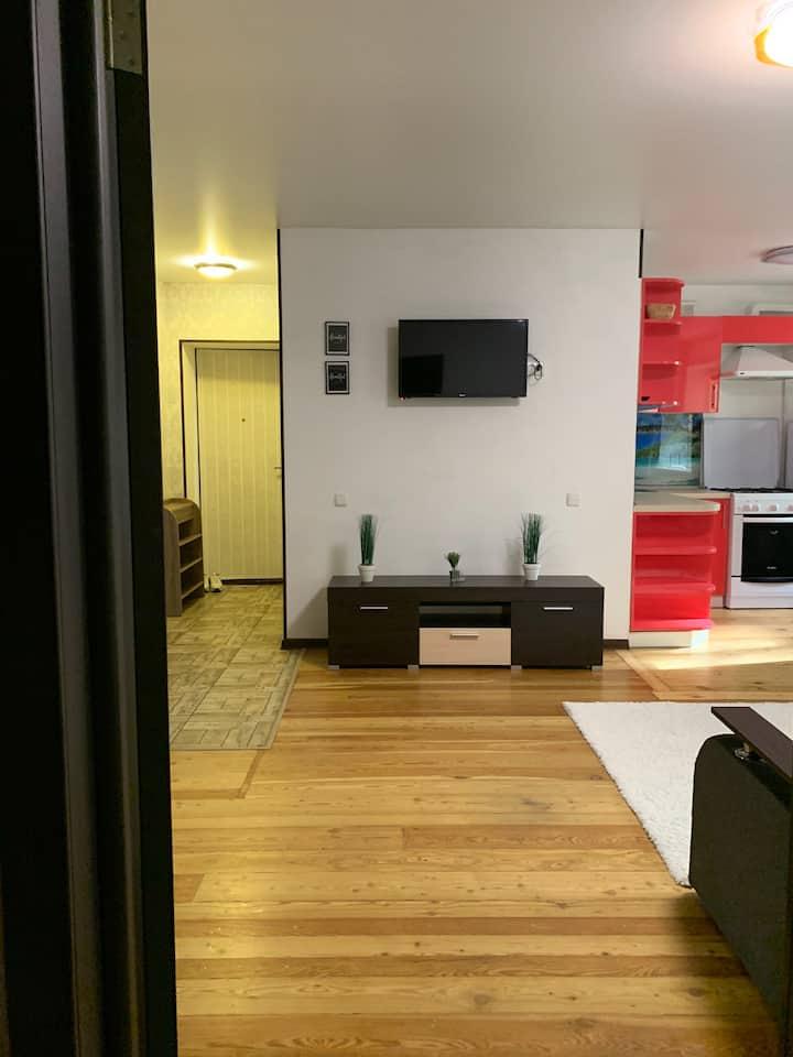 Двухкомнатная квартира Сталеваров 1 этаж
