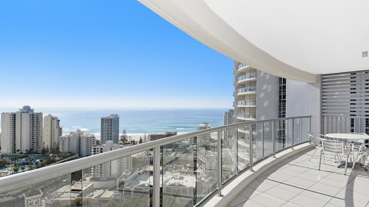 25th Level, Ocean & City Views of Surfers! 3254