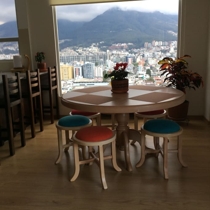 Dining with great view of Quito