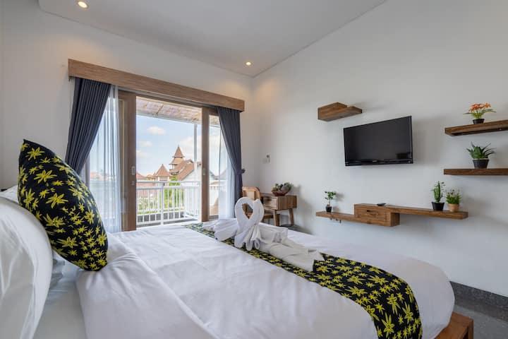 S5 Stylish 1BD Apartment Stunning view Canggu