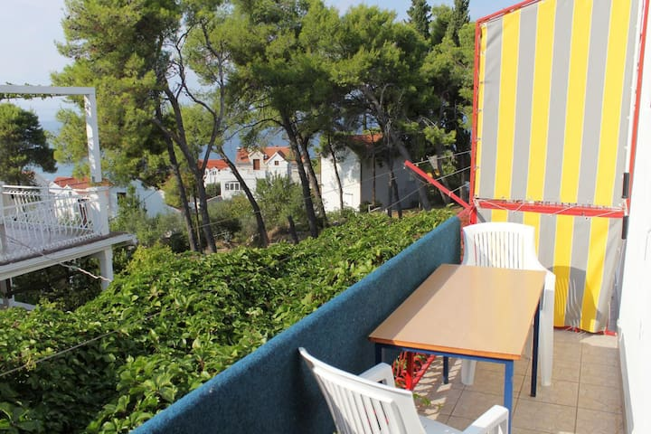One bedroom apartment with balcony and sea view Sutivan (Brač) (A-5629-b)