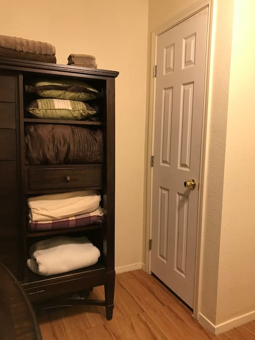 The closet will be available for your use.