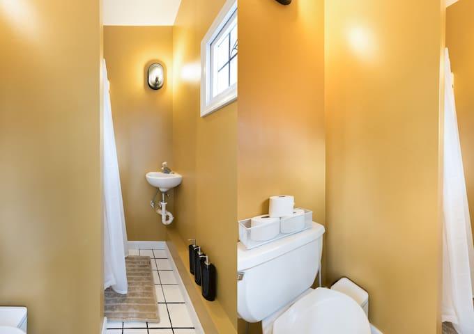 Bathroom (split screen photo)
