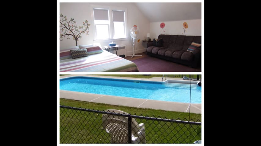 Cute Apartment w POOL - Newburgh - House