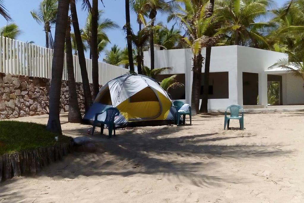 Area comun de acampado Vista al Mar