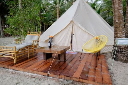 Glamping Siquijor Luxury beachfront Camping