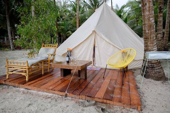 Glamping Siquijor Luxury beachfront Camping