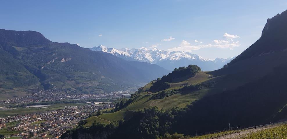 Vue sur les montagnes