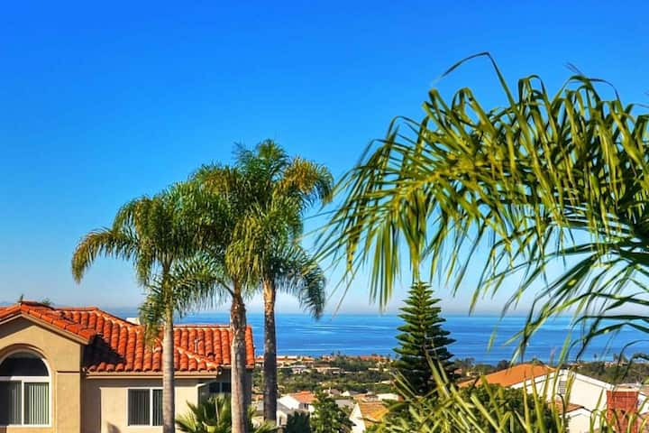 Ocean View Home Home with Updated Kitchen and Theater Room, Central AC, easy walk to beach