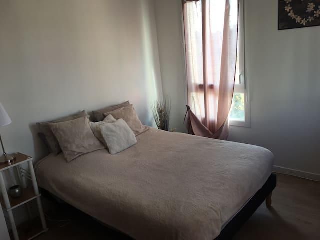 Chambre simple et double spacieuse décoration cosy - Sotteville-lès-Rouen - Pis