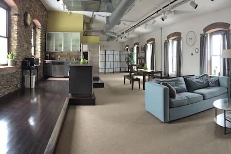 Beautiful loft space in renovated textile mill. - Philadelphia - Lägenhet