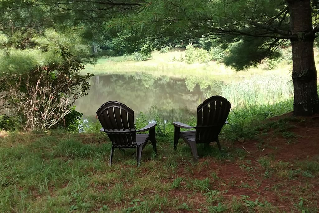 Have a seat by the pond